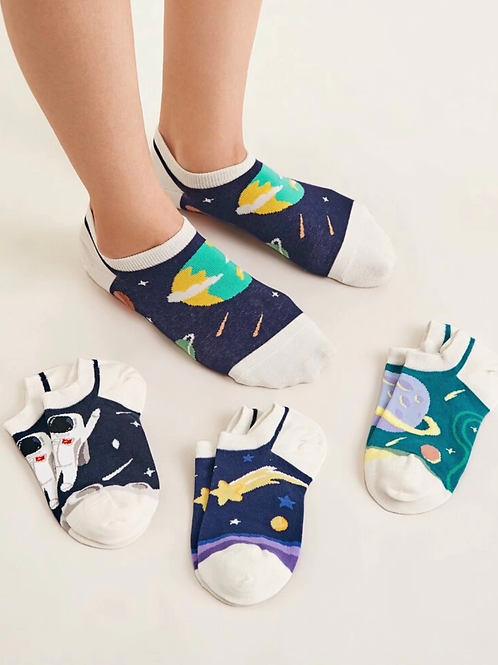 4 pares de calcetines de planetas 🪐