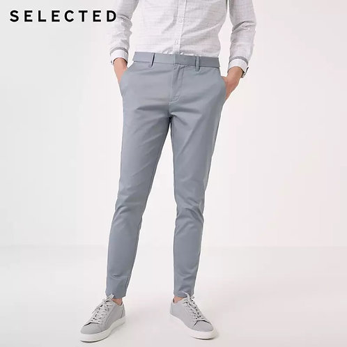 Pantalón informal para hombre algodón ajustados
