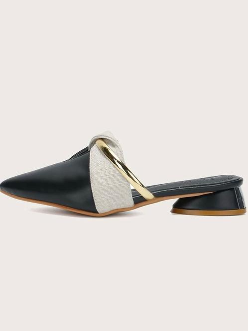 Zapatos planos con abertura