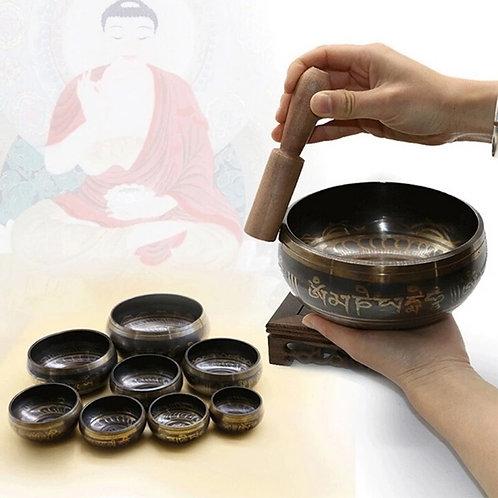 Cuenco de canto tibetano hecho a mano
