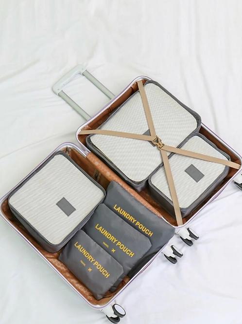 Set de 6 bolsas de almacenamiento para viajes