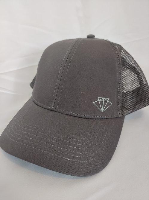 Mesh Snapback cap- Luna Grey
