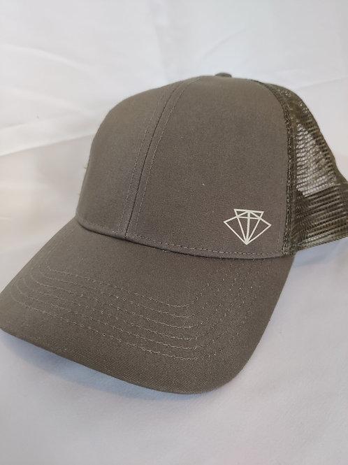 Mesh Snapback cap - Khaki green