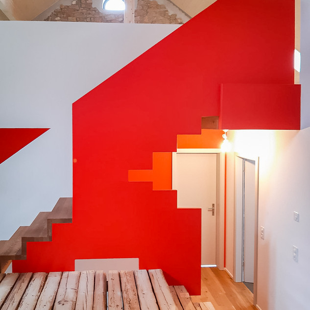 Treppenaufgang Malerarbeiten