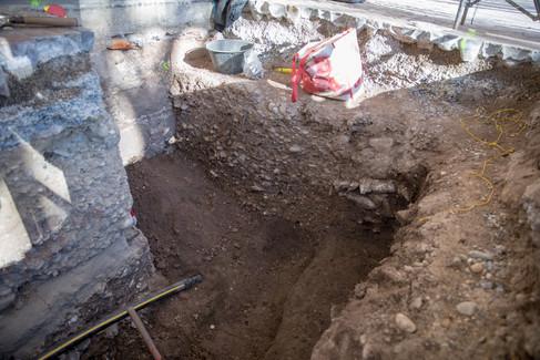 Ausgrabungen der Archäologen
