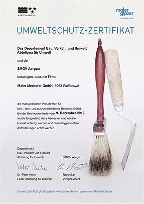 Umweltschutz-Zertifikat