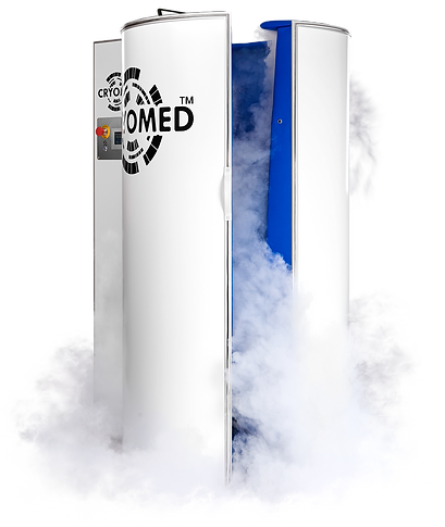 Unsere moderne Kryosauna Kältekammer der Firma Cryomed in Darmstadt. Zum Abnehmen, entspannen und für den Sport