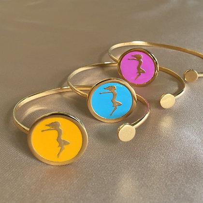 You and The Circle of Life Bangle Bracelet - Enamel