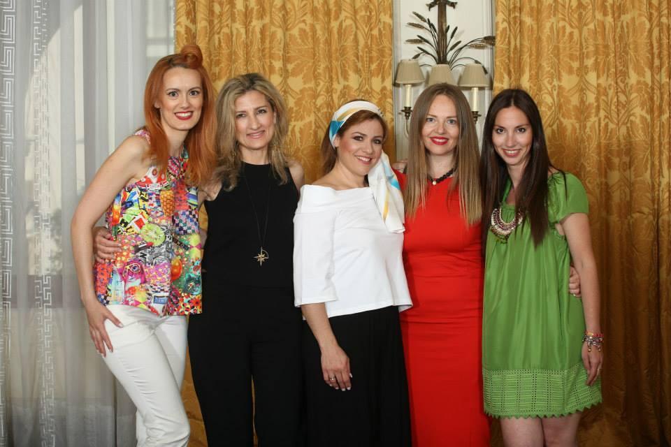 "The Designers with the Ambassador of ""FASHION For LIFE"", Greek Actress Marianna Toumasatou."