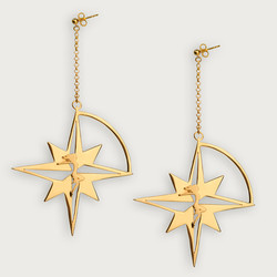 Let The Star Guide you Compass Star Earrings