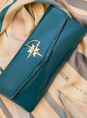 Let The Star guide you Leather Clutch Bag - Patent