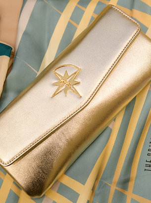 Let  The  Star  Guide you Leather Clutch Bag