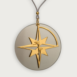 Let The Star Guide you Compass Star Pendant