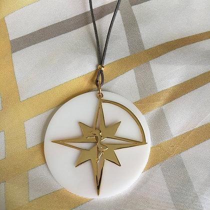 Let The Star Guide you Compass Star Pendant - Plexiglass