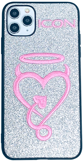Halo My Heart   iPhone Case   Silver + Pink