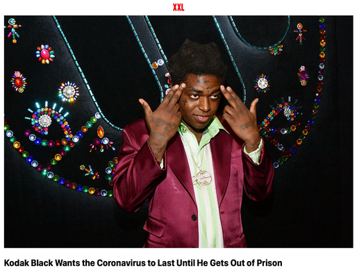 Kodak Black says he wants more Virus' to spread while he is in prison...