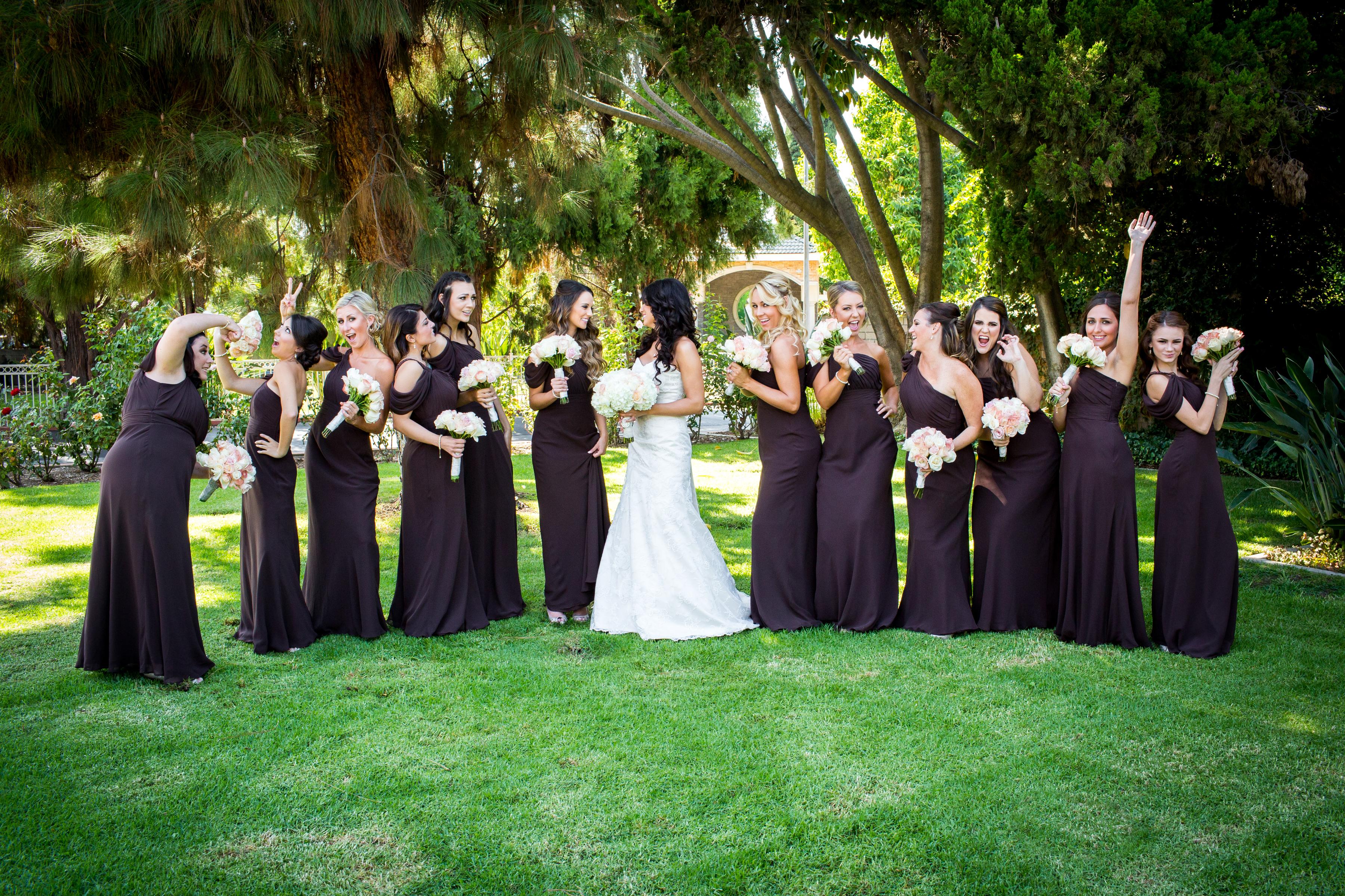 Austin wedding Big Bridal Party