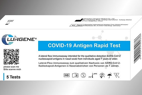 5er Packung Clungene Covid-19 Antigen Laientest
