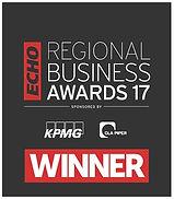 Award winning logo from Liverpool Echo Regional Business Awards