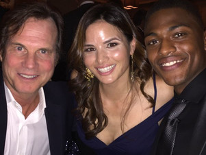 CBS Upfronts (Training Day Cast): Justin Cornwell with Bill Paxton, Katrina Law, Jerry Bruckheimer
