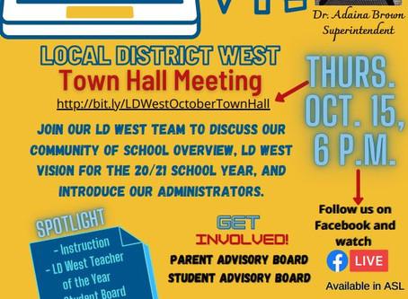 SCHOOL UPDATES - WEEK OF 10/12