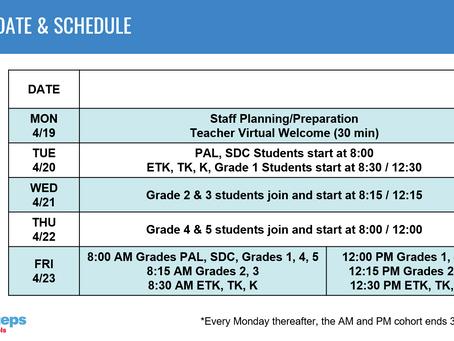 SCHOOL UPDATES - WEEK OF 4/12