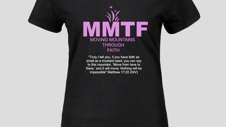 MMTF Women's Black and Purple T-shirt