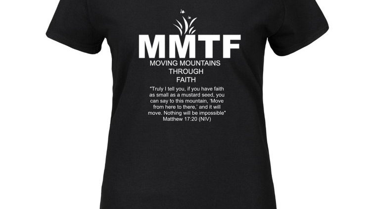 MMTF Women's Black and White T-shirt