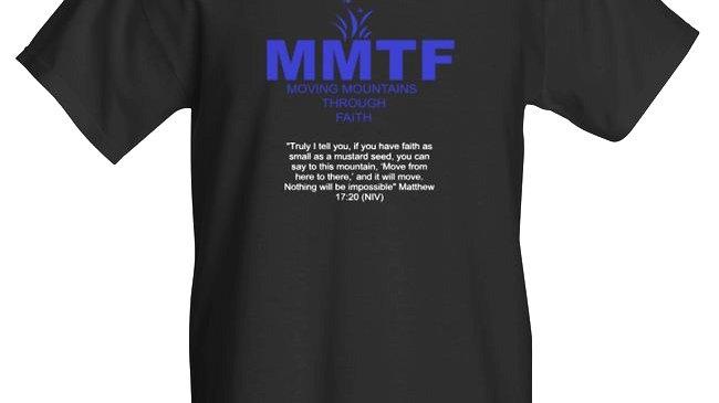 MMTF Men's Black and Blue T-shirt