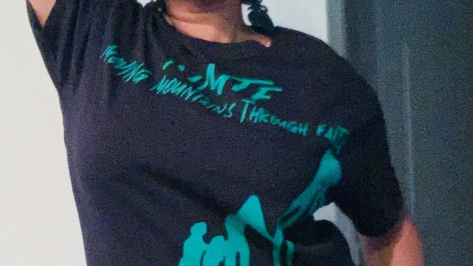 MMTF Black and Green Women T-shirt