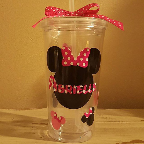 Personalized Minnie Tumbler