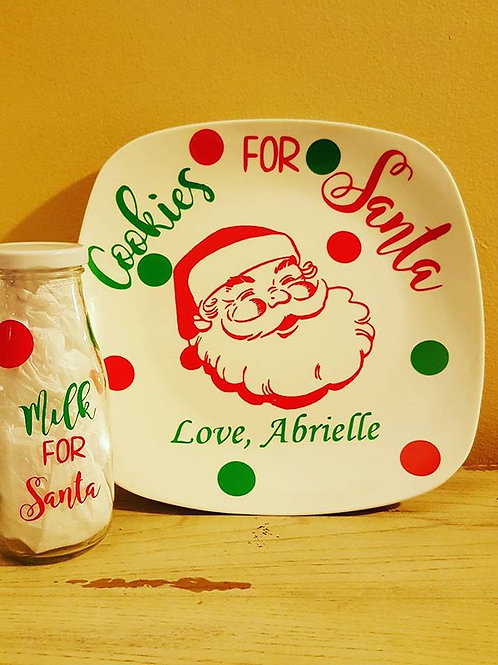 Cookies for Santa with milk glass