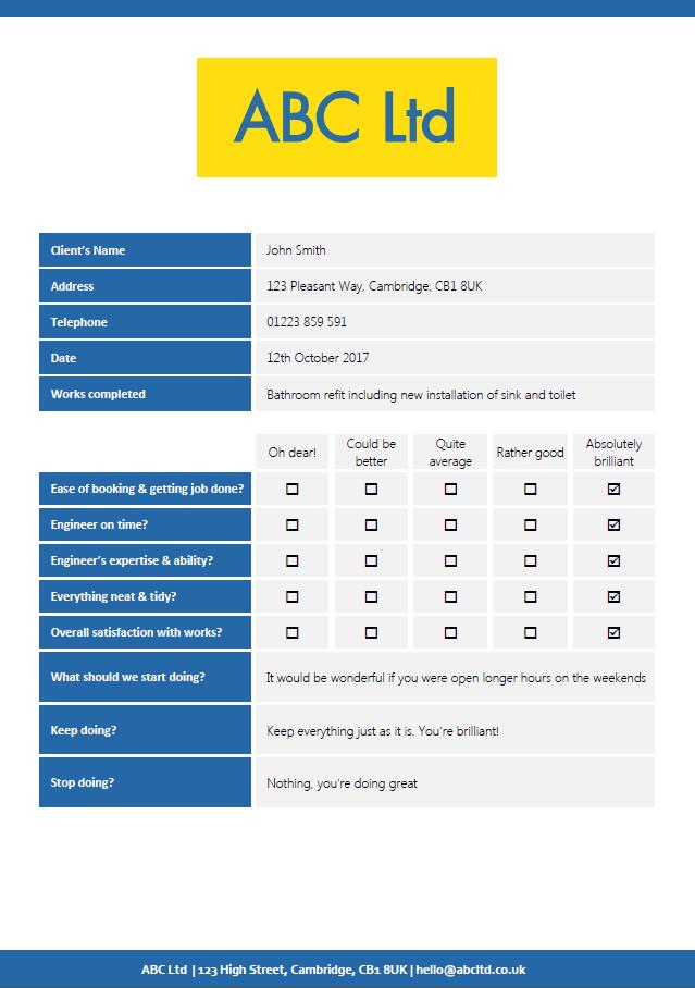 On-site Customer Survey