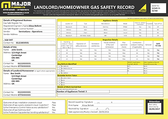 ServiceGuru ServiceM8 Gas Saftey Form