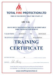 ServiceGuru ServiceM8 Custom Form: Fire Saftey Training Report