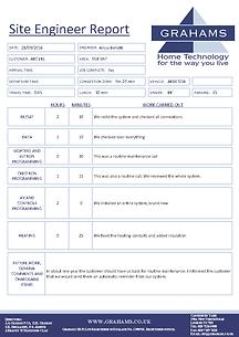 ServiceGuru ServiceM8 Custom Form: Site Engineer Report