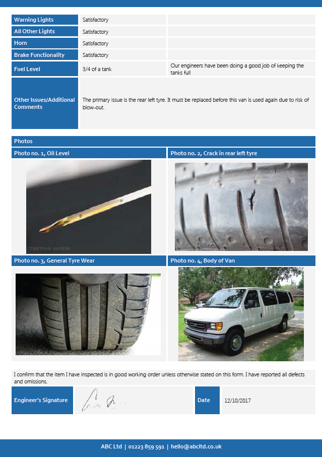 Vehicle & Equipment Inspection page 2