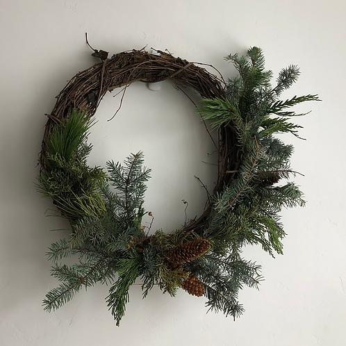 Flower Bar Asymmetrical Wreath Class
