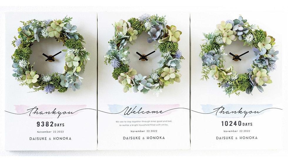 3つの時計 bloom グリーン