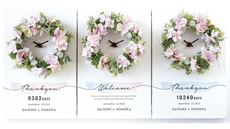 3つの時計 bloomピンク