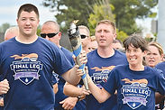 Powell officer helped run torch to Special Olympic games