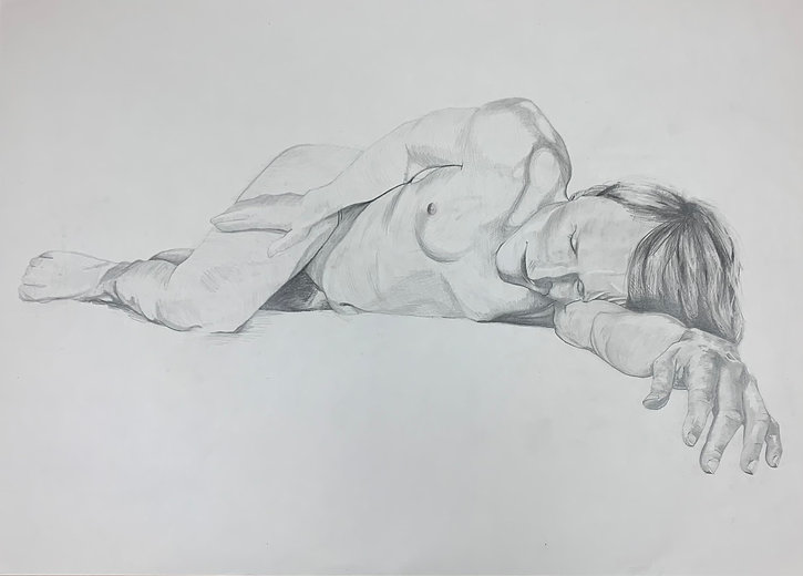 'Huld Ve_They', Pencil on Paper, 841 x 5