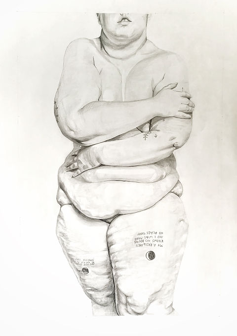 'Nic They_Them', Pencil on Paper,  841 x