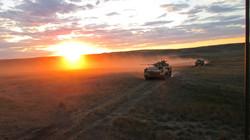 Delta Company riding into the sunset..JPG