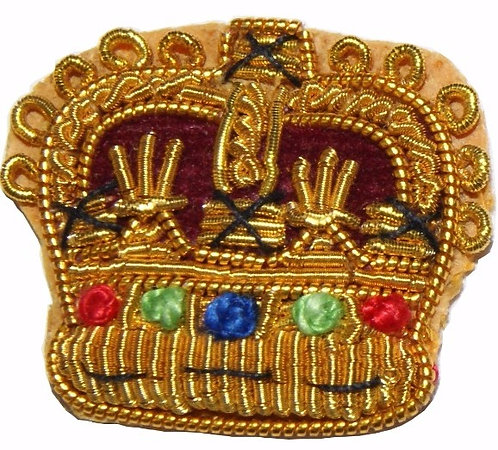 Royal Welsh Embroidered Mess Kit Crowns (Pairs)