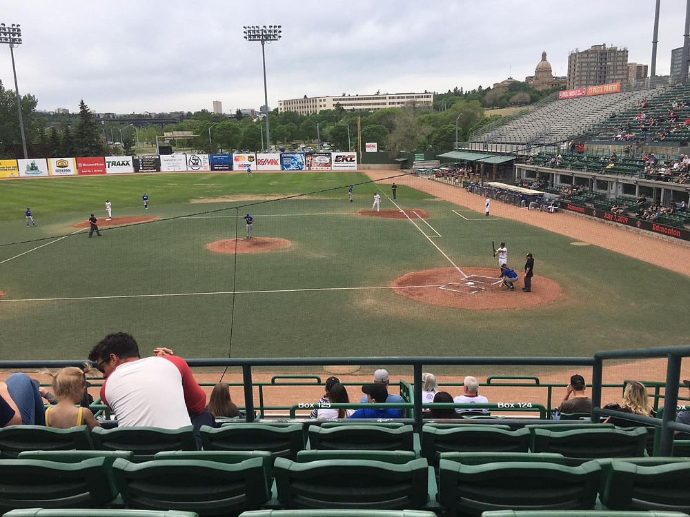 Members of 4 Platoon went to a Baseball game starring the Edmonton Prospects.