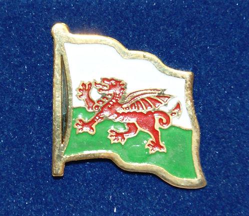 Welsh National Flag Lapel Pin Badge