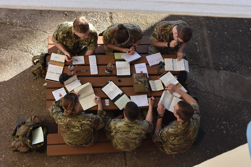 Officer Cadets embracing the Combat Estimate process.