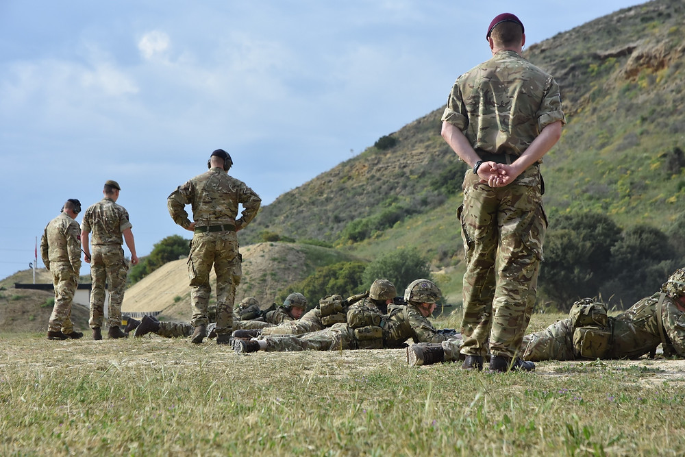 Officer Cadets were coached throughout to vastly improve their skills.