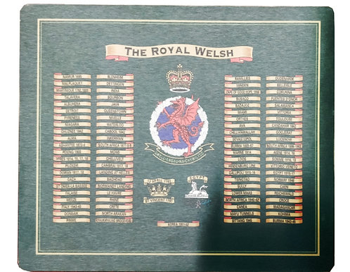 Royal Welsh Table Mat